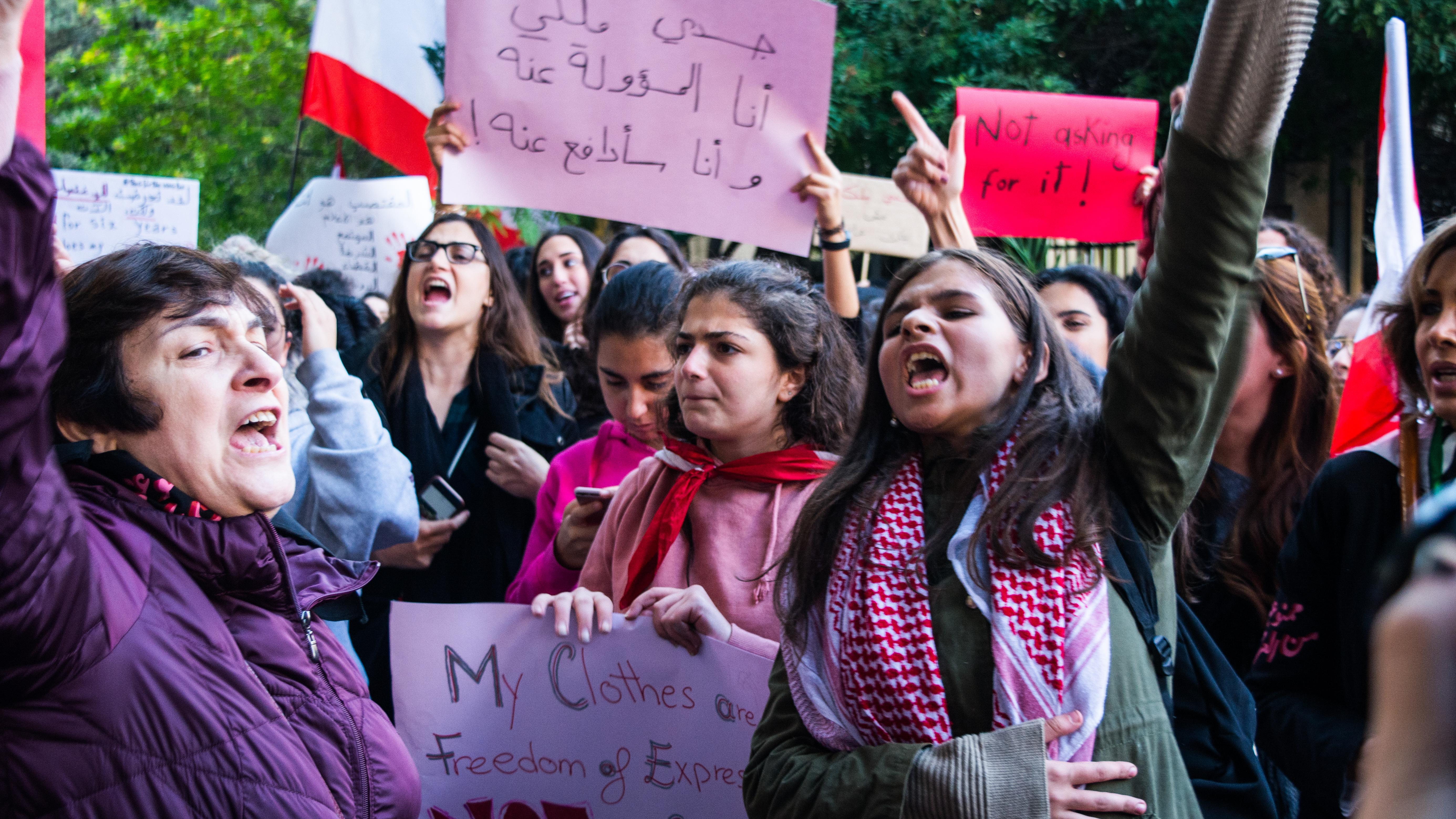 Hundreds march in Beirut against sexual violence and harassment. December 7, 2019. (Eleonora Gatto/The Public Source)